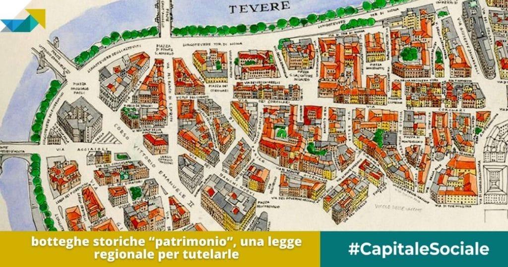 Legge regionale del Lazio per la tutela delle botteghe storiche come patrimonio