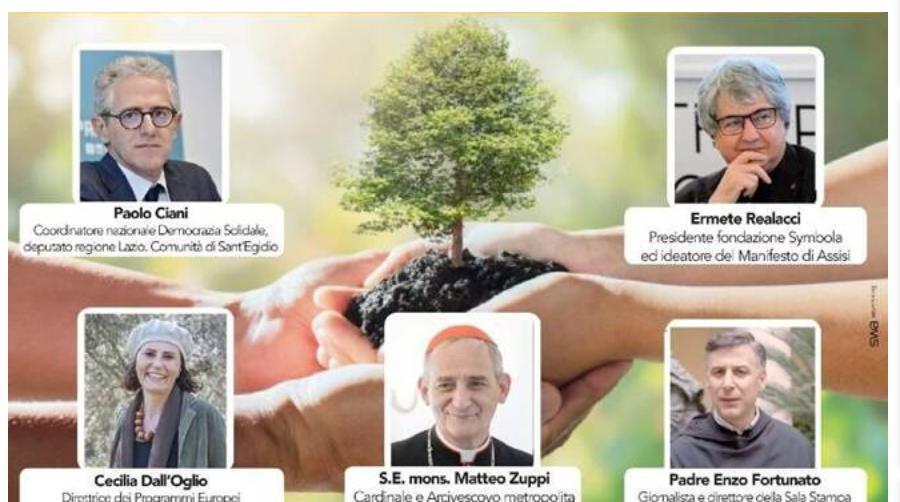 convegno laudato Sì, Paolo Ciani e Matteo Zuppi